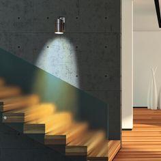 LED Wandleuchte ROM, Wandlampe, Außenleuchte, 1 Flammig, Edelstahl, GU10