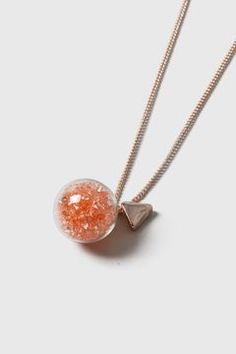 Peach Shaker Pendant Necklace