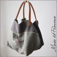 cuir et lin en 1 créateur cabas sac de wgxpqSqY