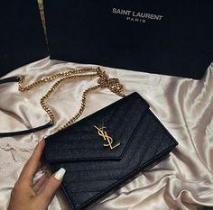 YSL Bag bag, and luxury Luxury Purses, Luxury Bags, Luxury Handbags, Purses And Handbags, Gucci Purses, Clutch Handbags, Sacs Design, Ysl Bag, Ysl Black Bag