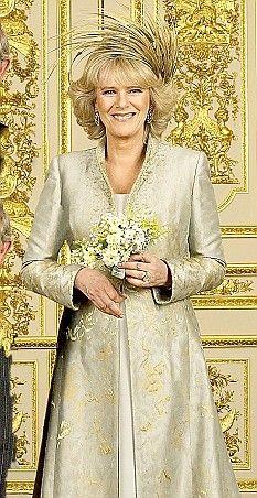 Camilla, Duchess of Cornwall's stylish coat & dress ensemble for her 2005 wedding