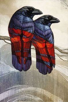 Orion and Luna study - Craig Kosak - Giacobbe-Fritz Fine Art Crow Art, Raven Art, Bird Art, Rabe Tattoo, Chise Hatori, Illustration Photo, Crows Ravens, Wildlife Art, Beautiful Birds