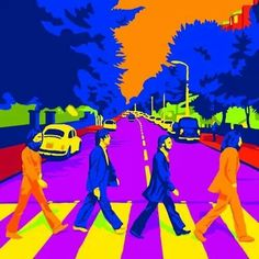 The Beatles' Abbey Road pop artwork, by unknown artist Abbey Road, Stuart Sutcliffe, Liverpool, Beatles Art, The Beatles, Beatles Photos, Ringo Starr, Paul Mccartney, John Lennon