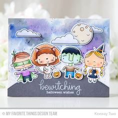 Happy Haunting Stamp Set and Die-namics, Stitched Basic Edges Die-namics - Keeway Tsao  #mftstamps