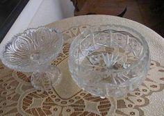 stare kryształowe patery cudo
