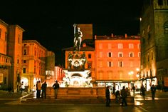 Bologna's Neptune at Night