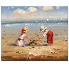 Title: At the Beach IVProduct Type: Gallery-wrapped Canvas ArtImage dimensions: 26 inches high x 32 inches wide