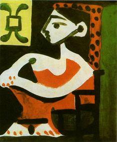 "Pablo Picasso - ""Portrait of Jacqueline profile II"", 1959"