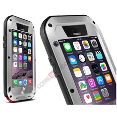 Waterproof Aluminum Gorilla Metal Case For iPhone 6 Plus 5.5inch - Silver US$39.99