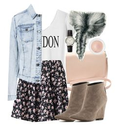 """""""Lydia Inspired Outfit with a London Shirt"""" by veterization ❤ liked on Polyvore featuring Forever 21, Zara, Dolce Vita, FOSSIL and By Terry"""