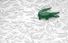 Lacoste ornamental pattern