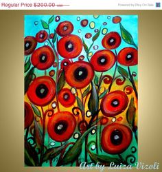 ON+SALE+1/2+price+ORIGINAL+Oil+Flowers+Painting+by+LUIZAVIZOLI,+$100.00