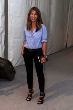 Nina Garcia - tailored but relaxed, great use of color. Youthful but not young.