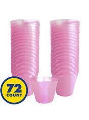 Big Party Pack Pink Plastic Cups 72ct