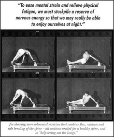 Joseph Pilates on the reformer. #pilates #history #photography