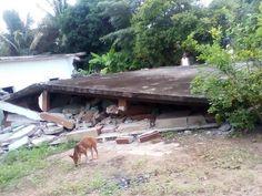 La localidad de Río Pachiñe en riesgo de un deslizamiento de tierra.