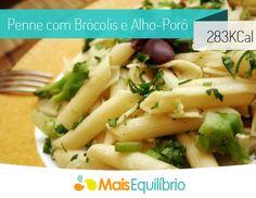 Massa levinha para comemorar o Dia do Macarrão! Você vai precisar de: - 150g de brócolis ninja - 250g de macarrão penne - 1 cebola picada - 2 dentes de alho - 1 colher (sopa) de sal http://maisequilibrio.com.br/penne-com-brocolis-e-alhoporo-8-2-7-802.html