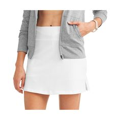 Women's Core Active Dri-More Skort Chafing Cream, Jersey Knit Skirt, White Skort, Golf Skirts, Womens Workout Outfits, Best Wear, Piece Of Clothing, Spring Outfits, Athletic
