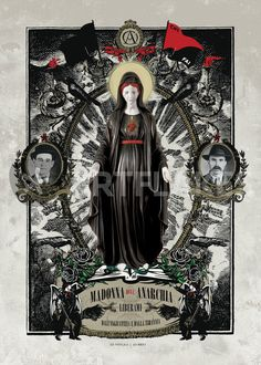 """Madonna dell'Anarchia"" Digital Art art prints and posters by ex-voto - ARTFLAKES.COM"