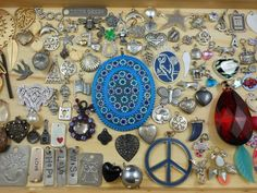 Huge 100+ Charms Pendant Lot Wear Repair Crafts Re-Purpose Orgone Supply Vtg-Now SOLD
