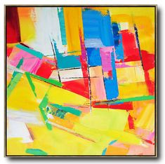 Palette Knife Contemporary Art #L44A #acrylic-painting #Artists_Leo-Chun #Contemporary
