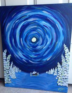 Sample painting I did for Brushes & Bottles, LLC of Merrillville, IN. KGM 2014.