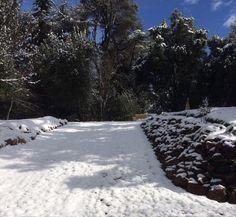 Nieve en el camino. Hotel Tunquelén. #Bariloche. Octubre 2015.