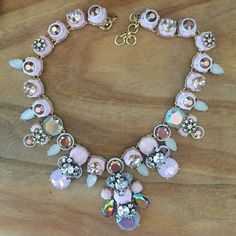 Gorg blush pink J.Crew statement necklace! Love love love this sparkly statement necklace from J.Crew! Excellent condition! Worn once! I love it but don't really wear statement necklaces much! J. Crew Jewelry Necklaces