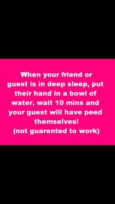 Sleepover pranks