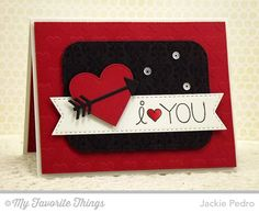 I Love You More, Damask Background, Pierced Heart STAX Die-namics, Stitched Rounded Rectangle STAX Die-namics, Tag Blueprints 3 Die-namics - Jackie Pedro #mftstamps