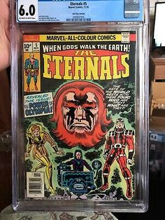ETERNALS #5  CGC 6.0 - NOV 1976 - 1st THENA (ANGELINA JOLIE) PENCE COPY!!  71486023340 | eBay Comic Books For Sale, Marvel Comics Superheroes, Walk The Earth, White Pages, Jack Kirby, Comic Book Covers, Bronze Age, Angelina Jolie, Hulk