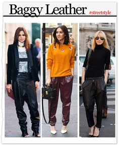 Baggy Leather Pants