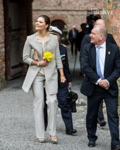 Crown Princess Victoria of Sweden opened a new exhibition on Queen Hedvig Eleonora at Gripsholm Castle on May 13, 2015 in Mariefred, Eastern Sweden