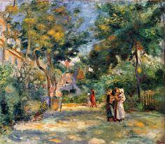 Figures in a Garden - Pierre-Auguste Renoir