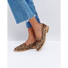 ASOS MUNCH Loafer Flat Shoes ($33) ❤ liked on Polyvore featuring shoes, flats, beige, leopard print flats, leopard print shoes, loafer flats, slip on shoes and flat prom shoes