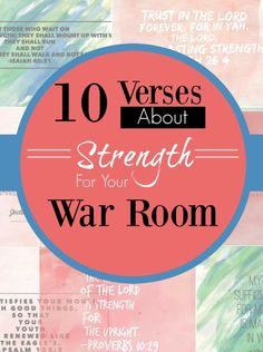 10 Verses on Strength to Decorate Your War Room, Prayer Closet Prayer Closet, Prayer Room, Power Of Prayer, My Prayer, Faith Prayer, Bible Verses About Strength, Bible Study Tips, Spiritual Warfare, Spiritual Growth