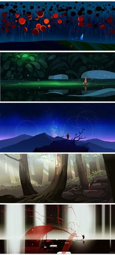 time by yao yao. . .idea for art piece using multiple panoramic landscapes on one panel