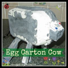 I don't know why but this egg carton cow made me laugh really hard.  Did he run his face into the door?