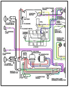 ELECTRIC Wiring Diagram Instrument Panel '60s Chevy C10