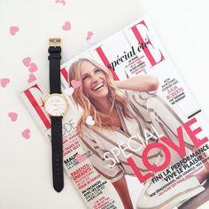 Toujours plus de Love ❤️ avec le nouveau Elle et la montre PS I Love you ! @ellefr #verymojo #love #elle #allyouneedislove #magazine #montre #watches ► www.verymojo.com ◄