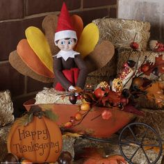 This elf returned ready for #Thanksgiving yesterday! | Elf on the Shelf Ideas