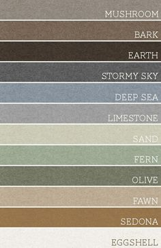 perfect palette for the home