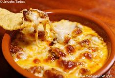 Recipes from Walt Disney World! Queso Fundido from San Angel Inn, Mexico Pavilion, Epcot, and La Hacienda de San Angel, Mexico Pavilion, Epcot. Cheesy, just the right amount of spice, this easy-to-make app will impress everybody!