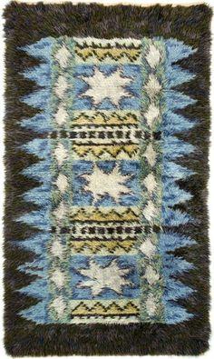 windwrinkle:  Wool Rya Rug, c1950.