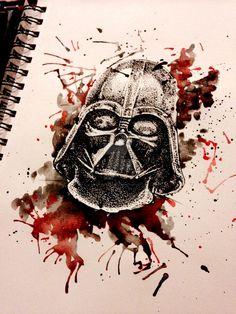 Darth Vader watercolor by AntoniettaArnoneArts
