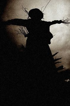 Samain: At ~ Scarecrow Silhouette (photo by Robert Wiley aka Bindlegrim). Creepy, Scary, October Country, Over The Garden Wall, Southern Gothic, Season Of The Witch, Arte Horror, Wizard Of Oz, Samhain