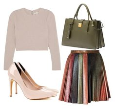 """""""Untitled #1592"""" by fiirework ❤ liked on Polyvore featuring Marco de Vincenzo, Alice + Olivia, Ted Baker and Miu Miu"""