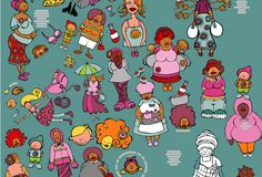 Love these african ladies from Tori Stowe Surface Design, Snoopy, African, Comics, Gallery, Illustration, Artist, Artwork, Fabric
