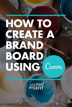 Social Media Discover How to Create a Brand Board Using Canva If youre looking to truly establish your brand identity heres a step-by-step tutorial on how to create your own custom brand board. Business Branding, Business Marketing, Social Media Marketing, Online Business, Content Marketing, Corporate Branding, Logo Branding, Branding Tools, 3d Logo