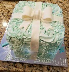 White Almond Raspberry Present Cake Buttercream Cake, Fondant Cakes, Present Cake, White Almonds, Raspberry, Presents, Gift Wrapping, Gifts, Buttercream Ruffles
